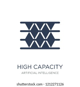 High capacity color barcode icon. Trendy flat vector High capacity color barcode icon on white background from Artificial Intelligence, Future Technology collection, vector illustration