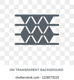 High capacity color barcode icon.Trendy flat vector High capacity color barcode icon on transparent background from Artificial Intelligence, Future Technology collection.