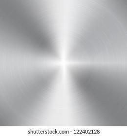 High contrast circular brushed aluminum texture
