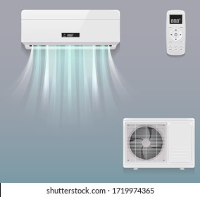 high cooling air conditioner vector design