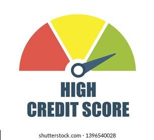 High credit score. Vector illustration.