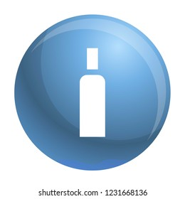 High density bottle icon. Simple illustration of high density bottle vector icon for web design isolated on white background