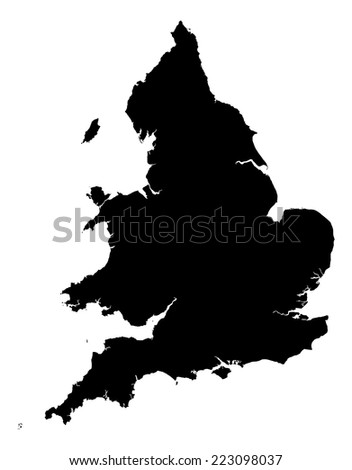 Map Of England And Wales.High Detail England Wales Map England Stock Vector Royalty Free
