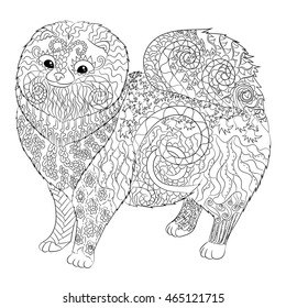 Coloring Book Page Dachshund Puppy Dog Stock Vector 657539446 ...