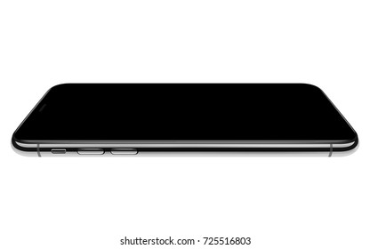 high detail phone horizontal angle vector drawing eps10 format isolated on white background
