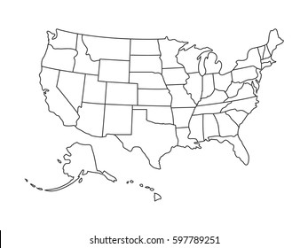 us map outline Images, Stock Photos & Vectors | Shutterstock
