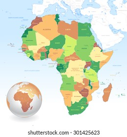 Map Of African Countries Images Stock Photos Vectors Shutterstock