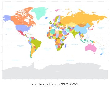 World map with country names images stock photos vectors high detail vector political world map illustration cleverly organized with layers with country gumiabroncs Choice Image