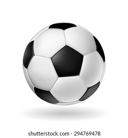 High Detail vector soccer ball.