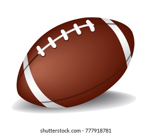 High Detailed American Football isolated on white background. Vector illustration eps 10.