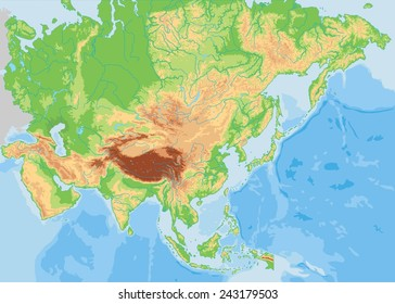 Asia Topographic Map Images, Stock Photos & Vectors ... on topographic map west africa, topographical map of africa, elevation topographic map africa,