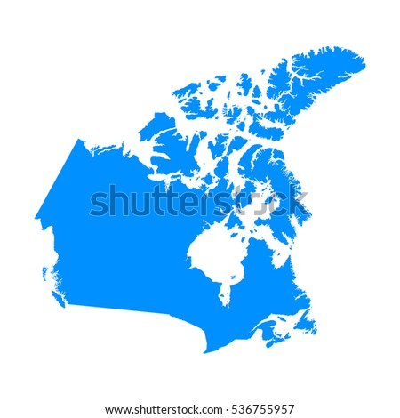 Map Of Canada Eps.High Detailed Blue Map Canada Vector Stock Vector Royalty Free