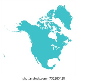 north america map vector images stock photos vectors shutterstock rh shutterstock com north america vector map with states north america map vector download