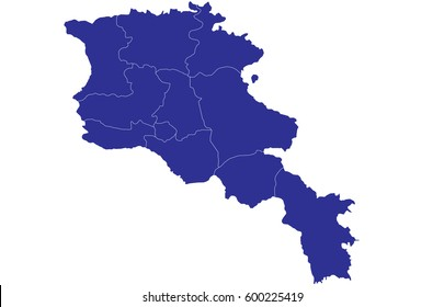 Armenia Map Images, Stock Photos & Vectors | Shutterstock