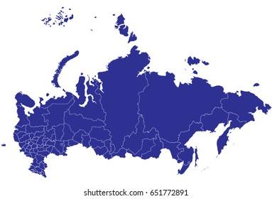 High detailed blue vector map – Qatar map