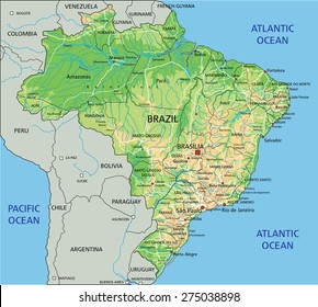 Argentina Physical Map Stock Vectors, Images & Vector Art | Shutterstock