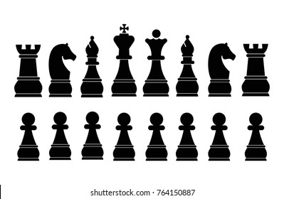 High Detailed Chess isolated on  white background. Vector illustration eps 10.