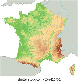 Mountains Of France Map.France Map Mountains Stock Illustrations Images Vectors