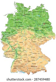Deutschlandkarte Strassen Stock Vectors Images Vector Art
