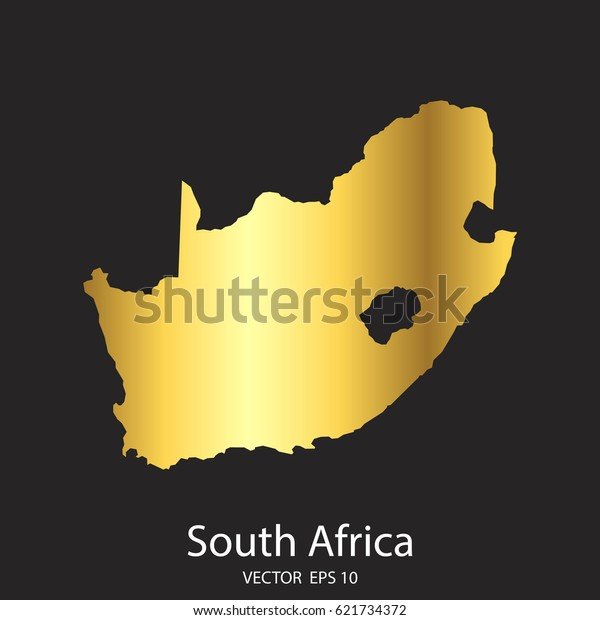 Gold In South Africa Map.High Detailed Gold South Africa Map Stock Vector Royalty