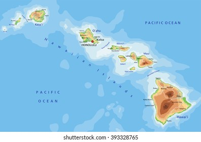 Oahu Hawaii Map Images Stock Photos Vectors Shutterstock