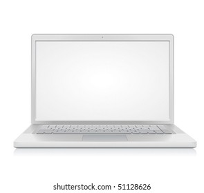 High detailed laptop. Vector illustration.