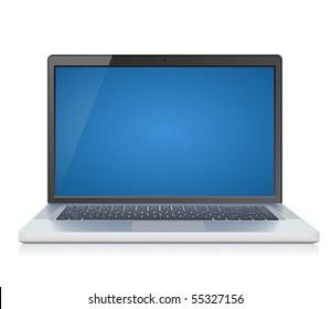 High detailed laptop. Vector illustration.