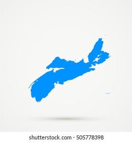 High detailed Light blue vector map Nova Scotia