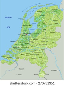 Netherlands Map Images Stock Photos Vectors Shutterstock