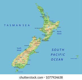 Detailed Map Of New Zealand.New Zealand Map Outline Images Stock Photos Vectors Shutterstock