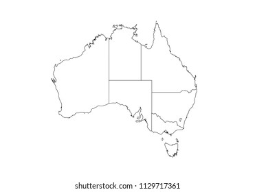 Australia Map Black And White Outline.Vectores Imagenes Y Arte Vectorial De Stock Sobre Australia