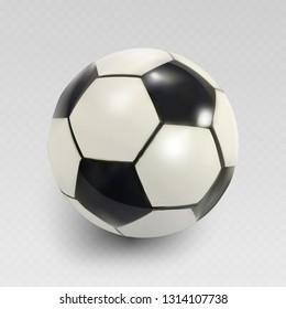 High detailed realistic soccer ball.