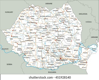 Romania Map Images Stock Photos Vectors Shutterstock