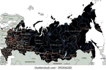 Vector Map Of The Urals Images Stock Photos Vectors Shutterstock