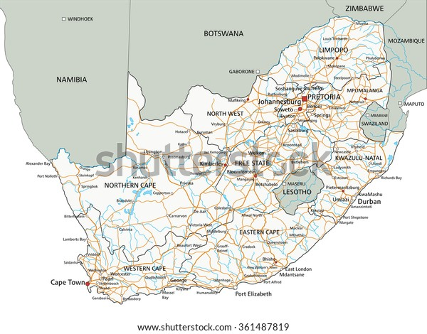 High Detailed South Africa Road Map Stock Vector (Royalty ... on labeled map of trinidad, labeled map of the u.s, labeled map of syria, labeled map of idaho, labeled map of missouri, labeled map of the himalayas, labeled map of mongolia, labeled map of nigeria, labeled map of puerto rico, labeled map of paraguay, labeled map of albania, labeled map of bodies of water, labeled map of iraq, labeled map of u.s.a, labeled map of belize, labeled map of nazi germany, labeled map of new caledonia, labeled map of western united states, labeled map of iran, labeled map of bolivia,
