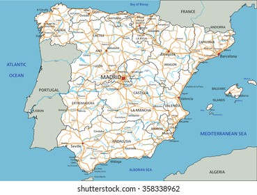 Map Of Spain Labeled.Portugal And Spain Map Images Stock Photos Vectors Shutterstock