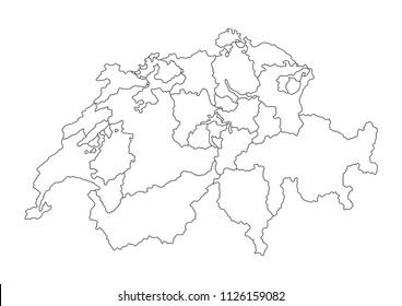 royalty free switzerland map images stock photos vectors Switzerland National Anthem high detailed switzerland map vector illustration