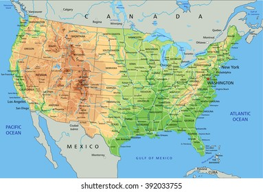 Map United States Rivers Lakes Images, Stock Photos & Vectors ...