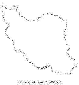 High detailed vector contour map - Iran