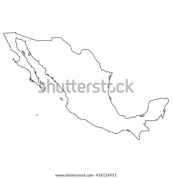 Mexiko Karte Umriss.High Detailed Vector Contour Map Mexico Stock Vektorgrafik