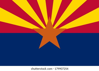 High detailed vector flag of Arizona