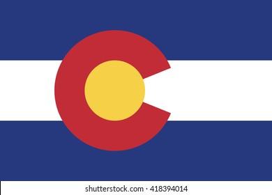 High detailed vector flag of Colorado