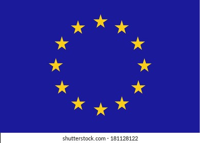High detailed vector flag of EU