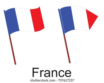High Detailed Vector Flag of France isolated on white background. Vector illustration eps 10.