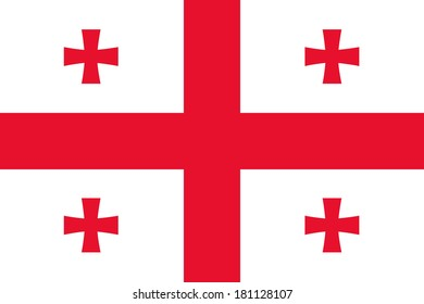 High detailed vector flag of Georgia