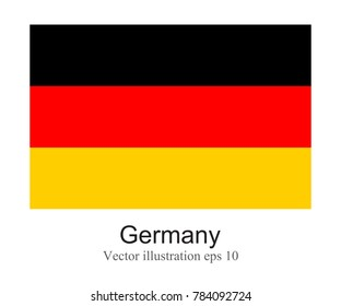 High Detailed vector flag of Germany isolated on white background. Vector illustration eps 10.