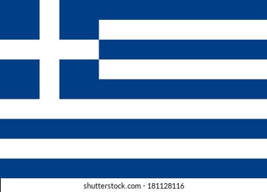 High detailed vector flag of Greece