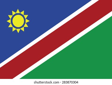 High detailed vector flag of Namibia