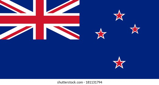High detailed vector flag of New Zealand