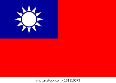 High detailed vector flag of Taiwan